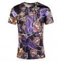 Ed Hardy T Shirts Tigers Purple Black For Men