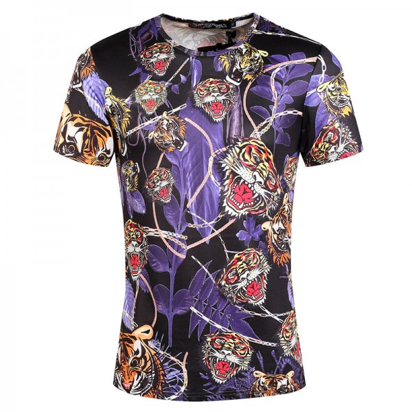 Ed Hardy T Shirts Tigers Purple Black For Men
