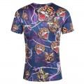 Ed Hardy T Shirts Tigers Purple Blue For Men