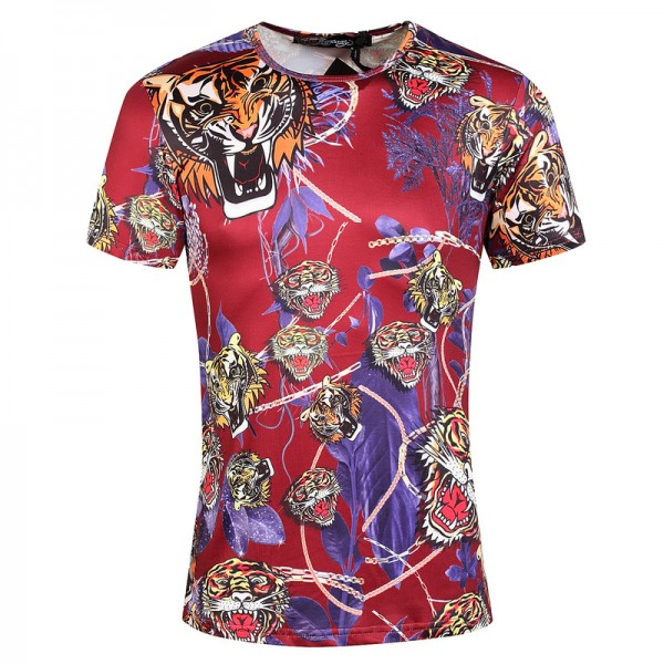 Ed Hardy T Shirts Tigers Purple Red For Men