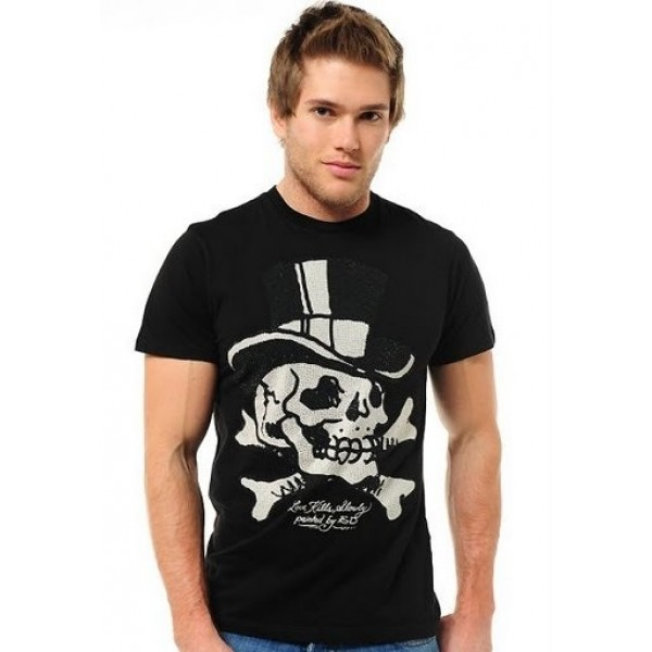 Mens Ed Hardy Designs T Shirts Magic Skull USA