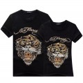 Mens Ed Hardy Short Tee Diamond Tiger Logo