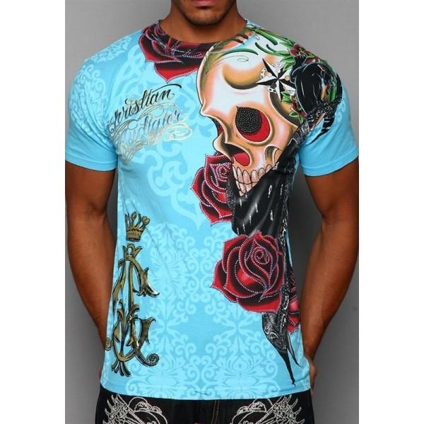 Mens Ed Hardy T Shirts Clothing Blue CA Canada