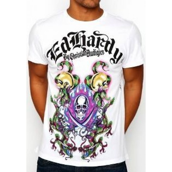 Online Shop Ed Hardy Mens T Shirts Flame Skull UK