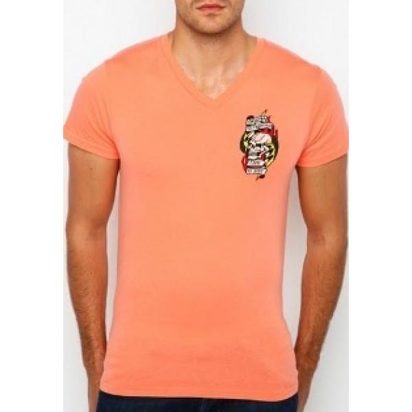 Sale Cobra T Shirts Mens Ed Hardy Tattoos Orange