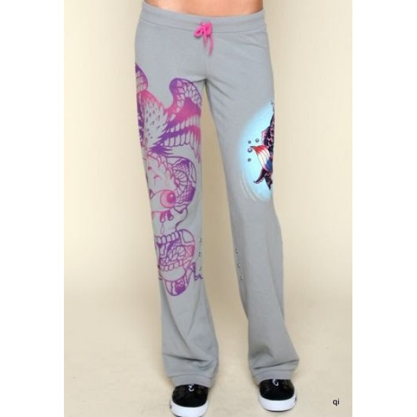 Ed Hardy Tight Pants Cobra Cyprinoid Grey For Women