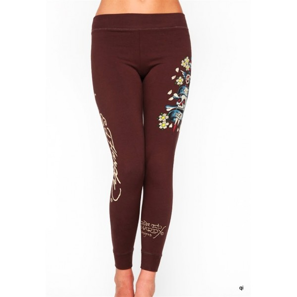 Ed Hardy Tight Pants Do Or Die Chocolate For Women