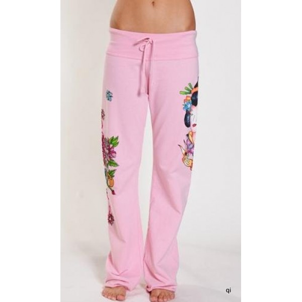 Ed Hardy Tight Pants Geisha Pink For Women