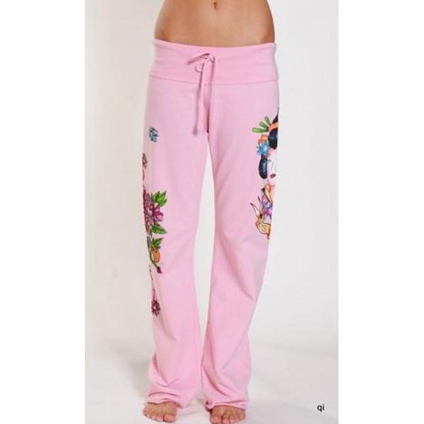 Ed Hardy Tight Pants Geisha Pink For Women