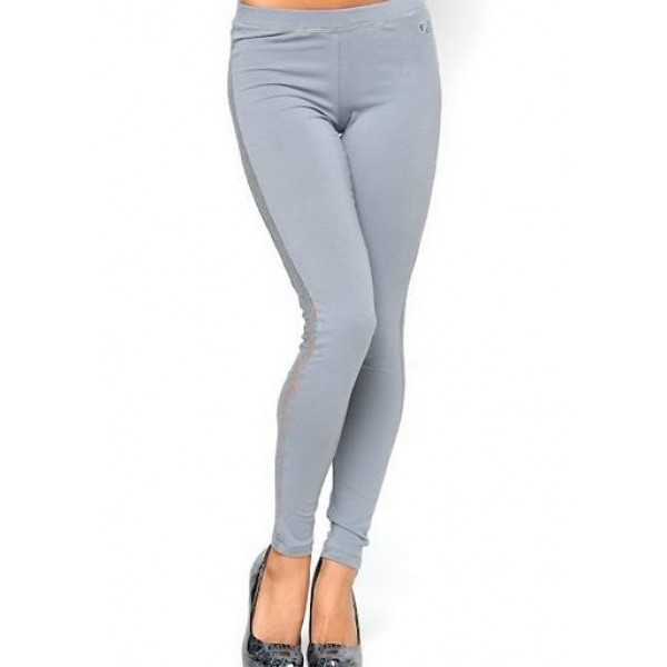 Ed Hardy Tight Pants Lace Grey For Women