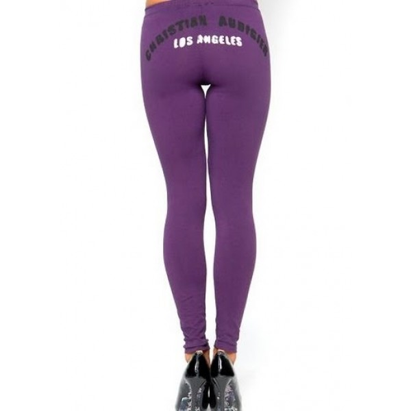 Ed Hardy Tight Pants Los Angeles Purple For Women
