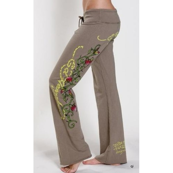 Ed Hardy Tight Pants Pirate Skull Army For Women