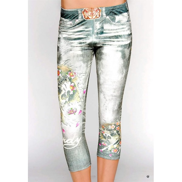 Ed Hardy Tight Pants Skull Bolt Denim For Women