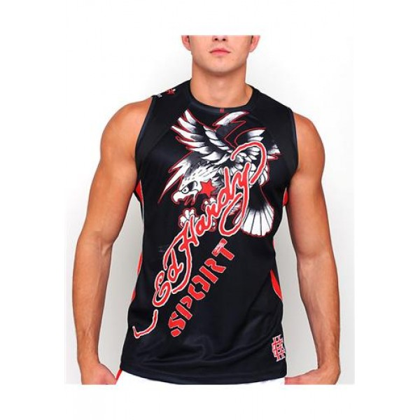 ED Hardy Muscle Shirts Sport Eagle Black For Men