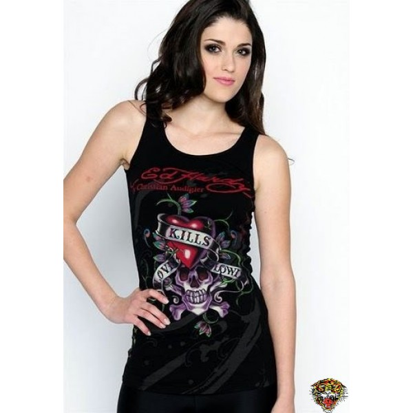 Ed Hardy Vest Classic Love Kill Slowly Black For Women