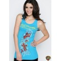 Ed Hardy Vest Cyprinoid Wave Blue For Women