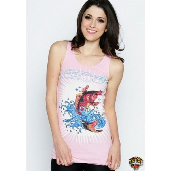 Ed Hardy Vest Cyprinoid Wave Pink For Women