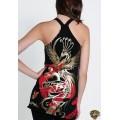 Ed Hardy Vest Gold Phoenix Black For Women