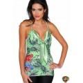 Ed Hardy Vest Green Leopard Roses For Women