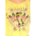 Ed Hardy Vest Indiana Sex Lady Yellow For Women