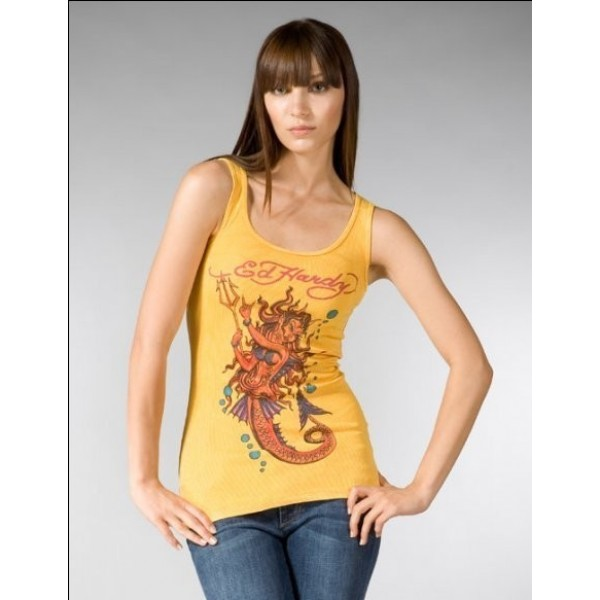 Ed Hardy Vest Mermaid Yellow For Women