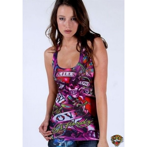 Ed Hardy Vest Purple Classic Love Kill Slowly For Women