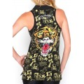 Ed Hardy Vest Tiger Logo Blend Black For Women