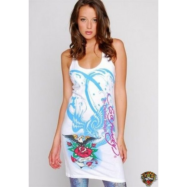 Ed Hardy Vest Til Death White For Women