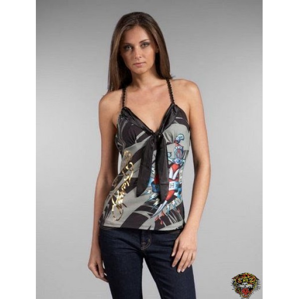 Ed Hardy Vest USA Eagle Black For Women