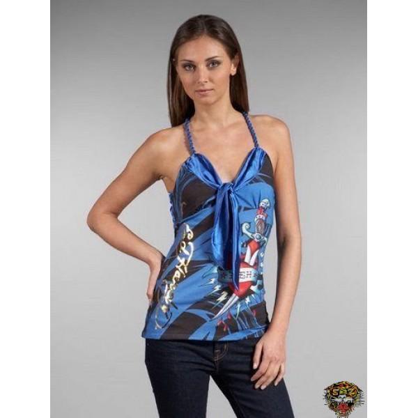 Ed Hardy Vest USA Eagle Blue For Women