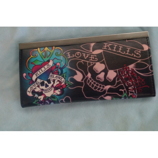 Ed Hardy Purse Black Love Kill Slowly