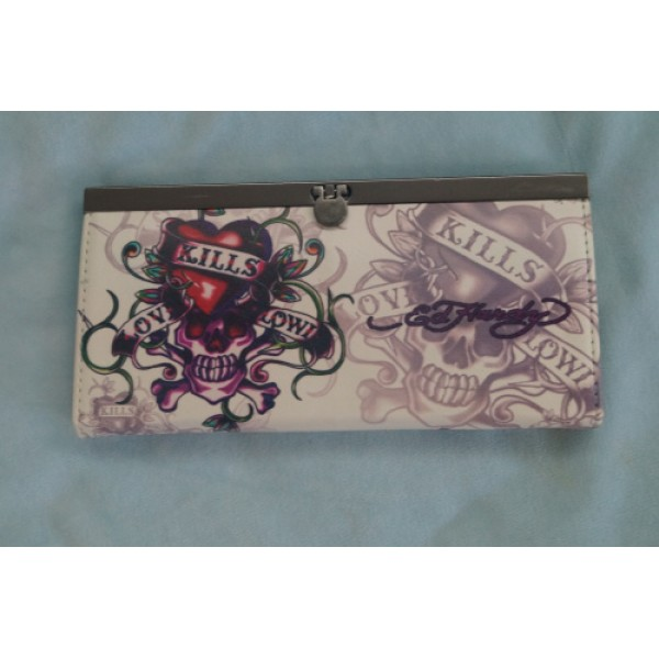 Ed Hardy Purse Ivory Love Kill Slowly