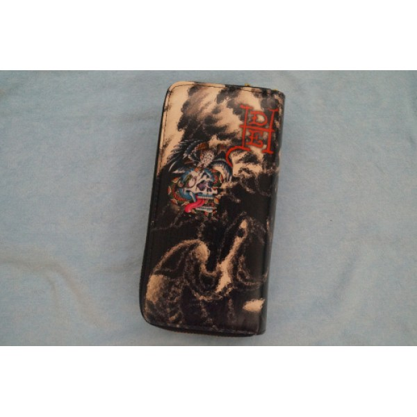 Ed Hardy Wallets Cobra Eagle Skull Black