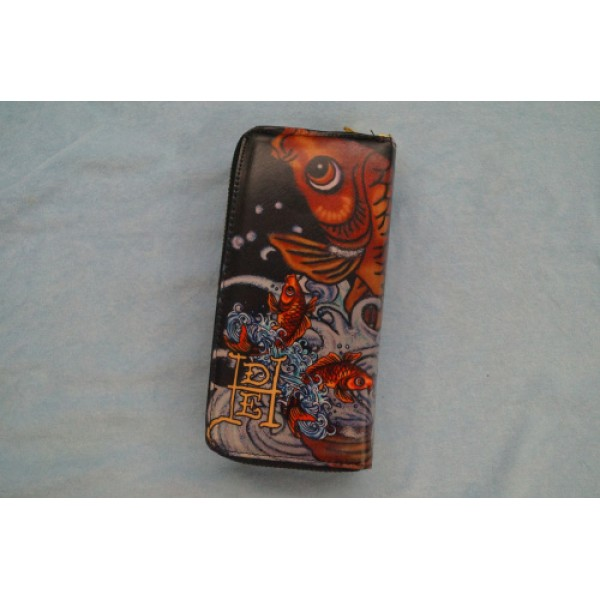 Ed Hardy Wallets Cyprinoid Black