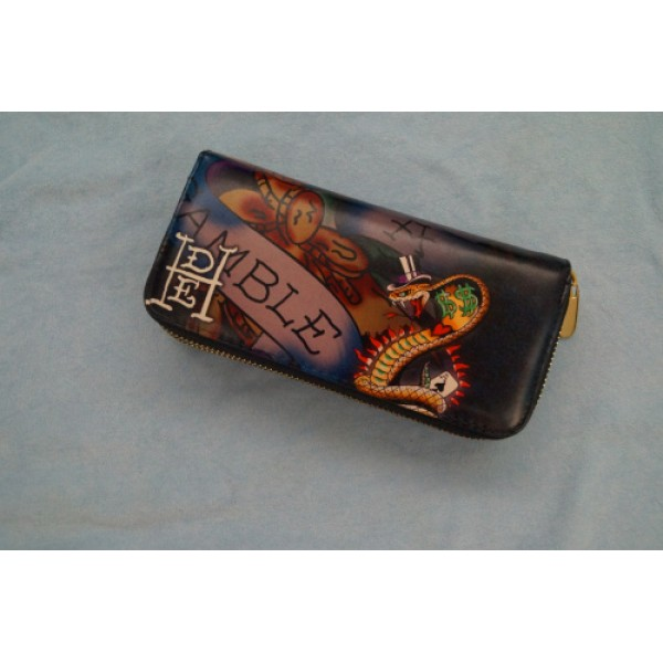 Ed Hardy Wallets Gamble Love Kill Slowly