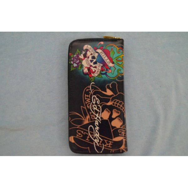 Ed Hardy Wallets Love Kill Slowly Black