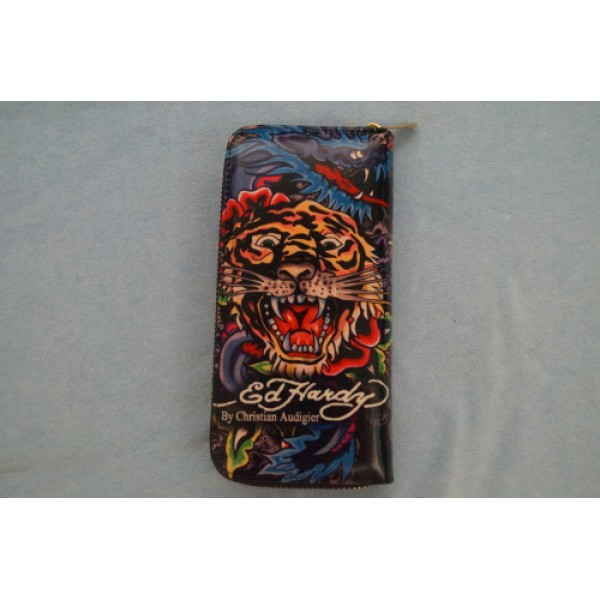 Ed Hardy Wallets Tiger Dragon Black