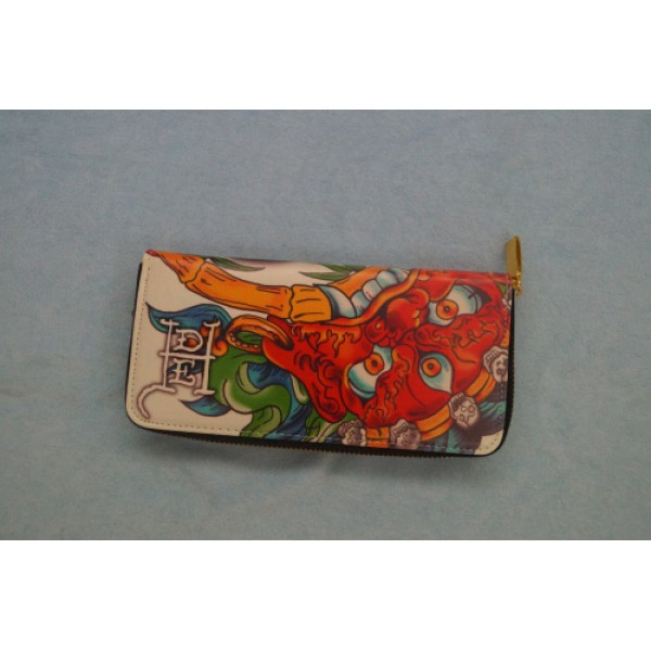 Ed Hardy Wallets Tonlion Geisha