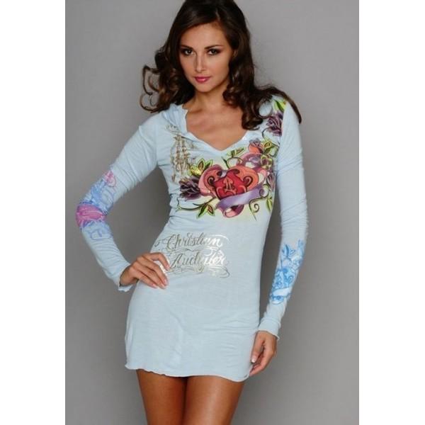 Blue Ed Hardy Womens Dresses Sales