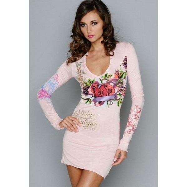 Don Womens Ed Hardy Dresses Pink UK