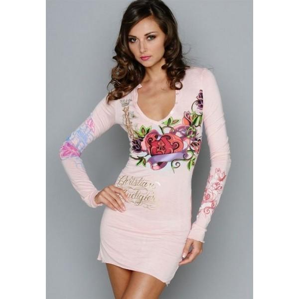 Don Womens Ed Hardy Dresses Pink UK
