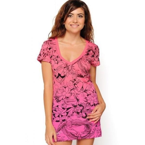 Ed Hardy Audigier Womens Dresses Print Pink