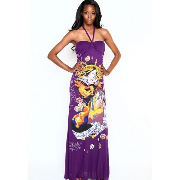Ed Hardy Australia Womens Dresses Geisha Purple