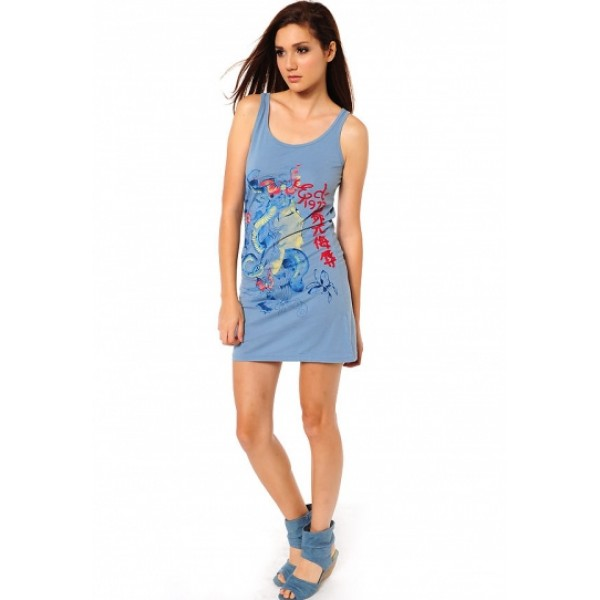 Ed Hardy Shop UK Womens Dresses Medusa Blue